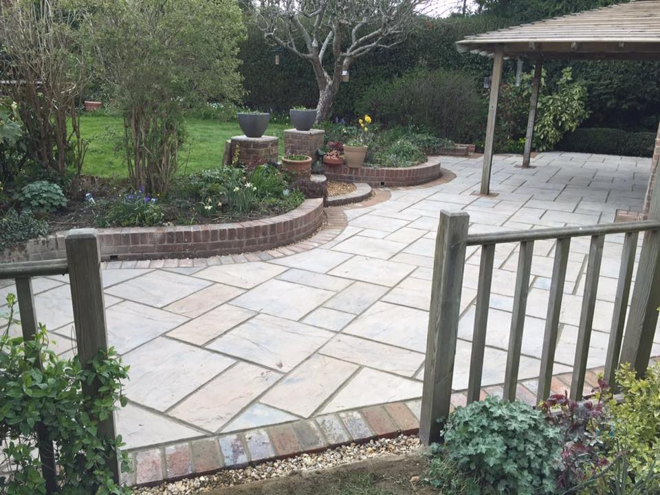 Chailey Patio Installation in Heritage Yorkstone