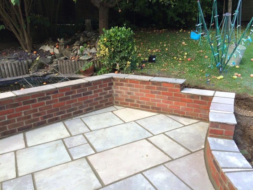 Indian Sandstone Patio Installation- East Grinstead