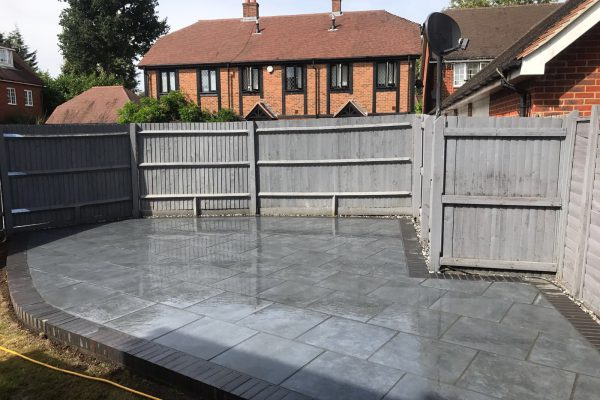 Patio Installation in Arrento Paving – Pease Pottage